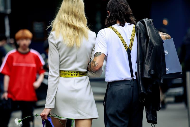 Paris Fashion Week Men's Spring Summer 2020 Street Style Dress Tan Shirt White Pants Black