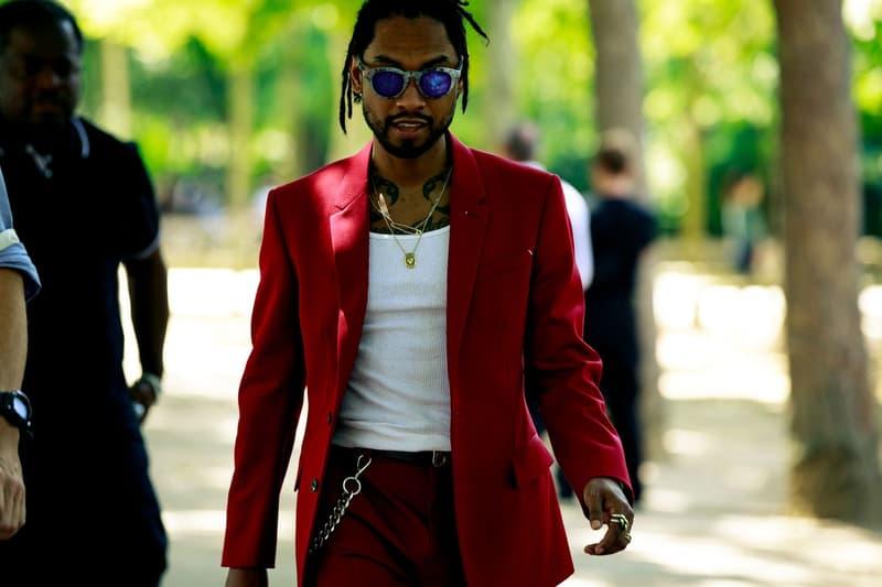 Paris Fashion Week Men's Spring Summer 2020 Street Style Miguel Blazer Pants Red