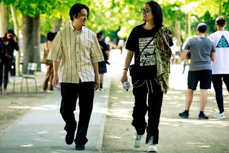 Paris Fashion Week Men's Spring Summer 2020 Street Style Shirts Tan Black
