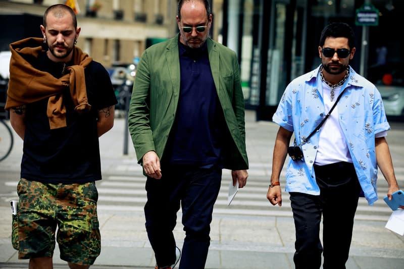 Paris Fashion Week Men's Spring Summer 2020 Street Style Shirts Black Blue Hoodie Brown Jacket Green