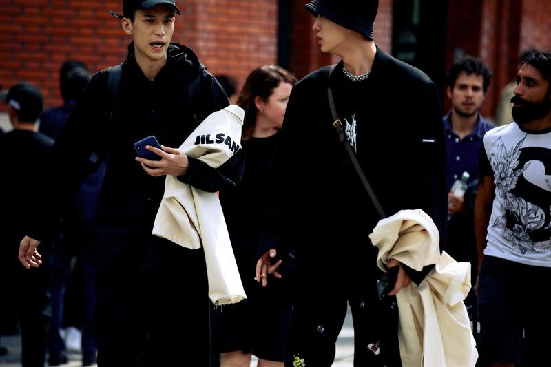 Paris Fashion Week Men's Spring Summer 2020 Street Style Jackets Black