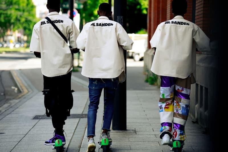 Paris Fashion Week Men's Spring Summer 2020 Street Style Jil Sander Shirts Cream