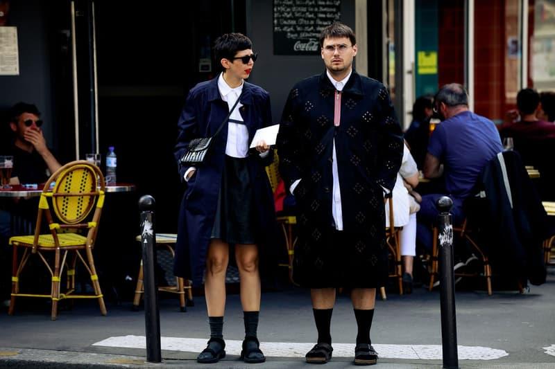 Paris Fashion Week Men's Spring Summer 2020 Street Style Jackets Shorts Black