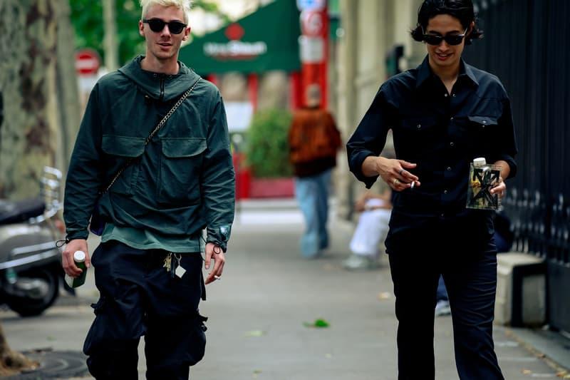 Paris Fashion Week Men's Spring Summer 2020 Street Style Jacket Green Pants Black