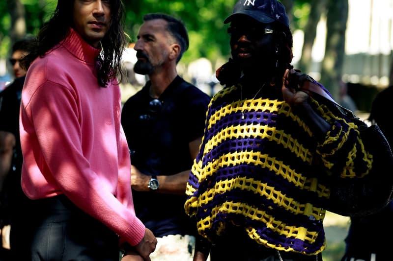 Paris Fashion Week Men's Spring Summer 2020 Street Style Dev Hynes Sweater Black Yellow