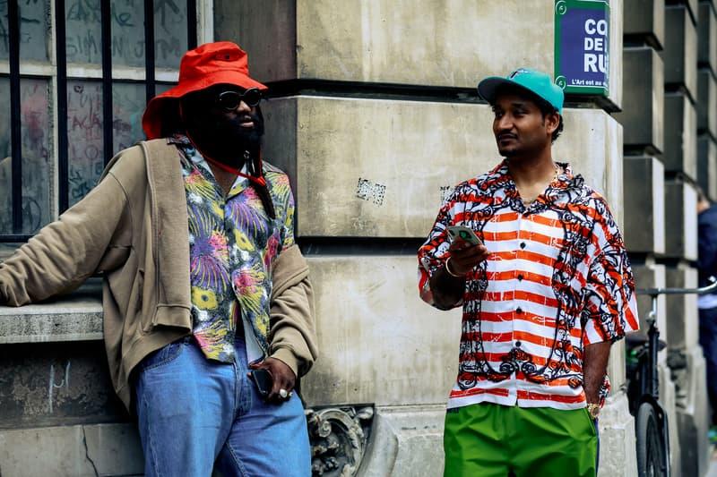 Paris Fashion Week Men's Spring Summer 2020 Street Style Tremaine Hat Red Shirt Tan Don C Green