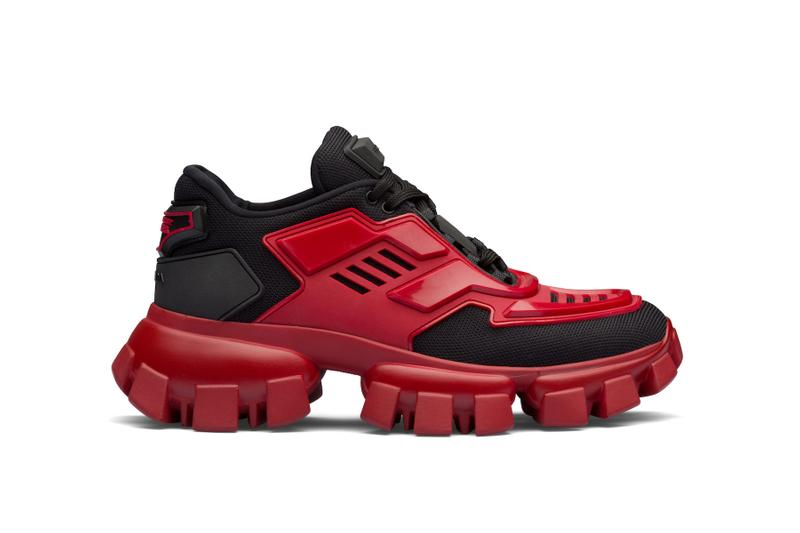 Prada Cloudbust Thunder Chunky Sneaker Release Yellow Red Black White Dad Shoe Fall Winter Trainer Luxury Price Drop Date
