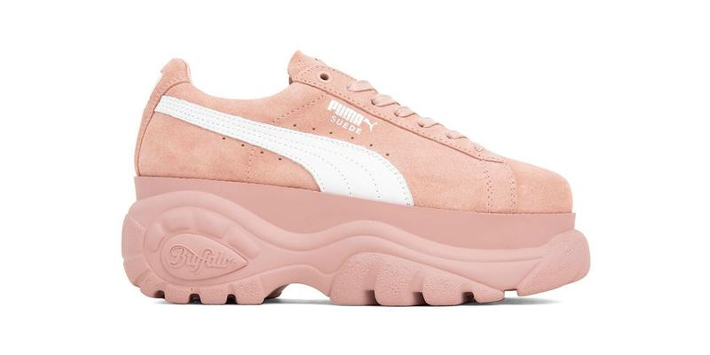 54b172a05a8 PUMA x Buffalo London Platform Suede Sneakers Pink Beige Release Date Where  to Buy Platform Puma