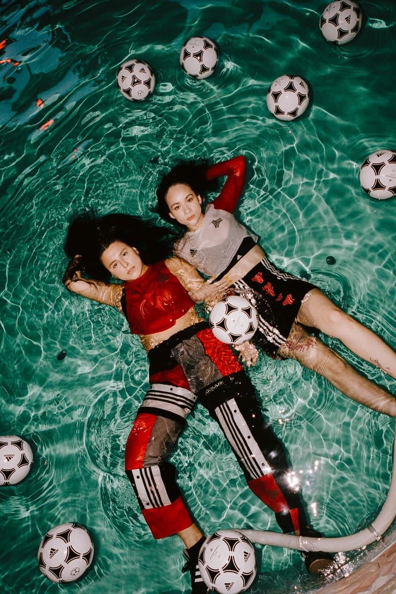 RemixedByTal x adidas Tango League Collection Top Sweatpants Skirt Red Black