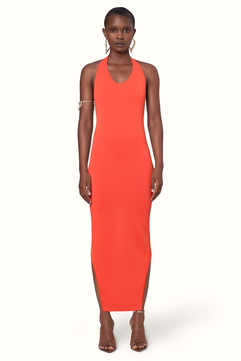 Rihanna Fenty LVMH Luxury Fashion Brand Maison Release 6 19 red orange dress heels sandals