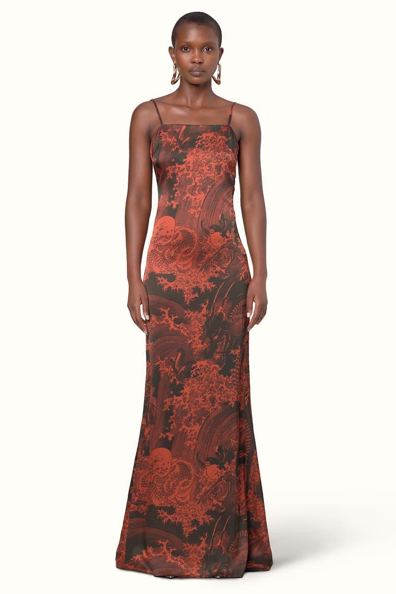 Rihanna Fenty LVMH Luxury Fashion Brand Maison Release 6 19 red pattern dress heels sandals