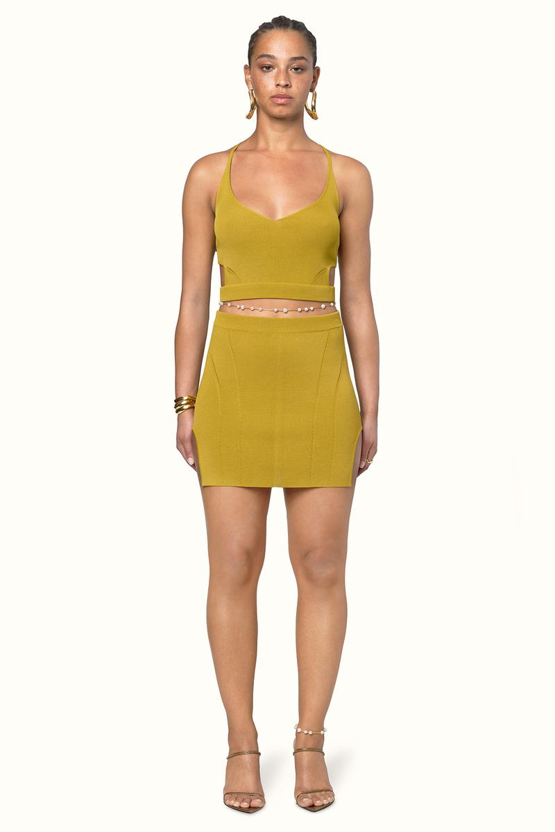 Rihanna Fenty LVMH Luxury Fashion Brand Maison Release 6 19 yellow dress heels sandals