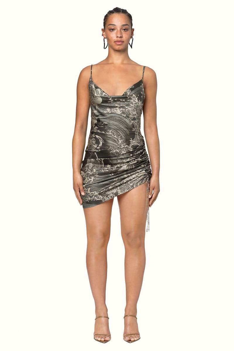 Rihanna Fenty LVMH Luxury Fashion Brand Maison Release 6 19 black pattern dress heels sandals
