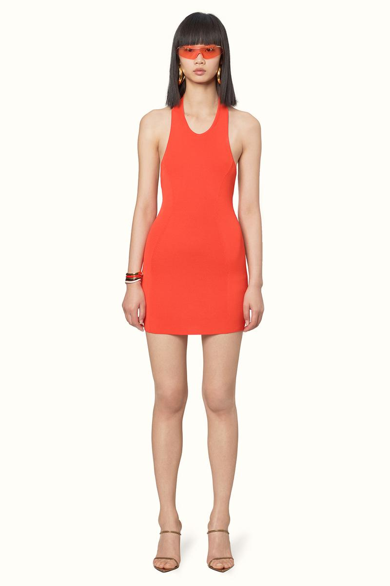 Rihanna Fenty LVMH Luxury Fashion Brand Maison Release 6 19 Orange red dress sunglasses heels sandals