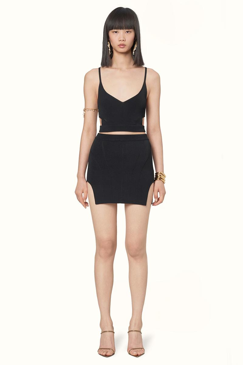 Rihanna Fenty LVMH Luxury Fashion Brand Maison Release 6 19 black top skirt dress heels sandals