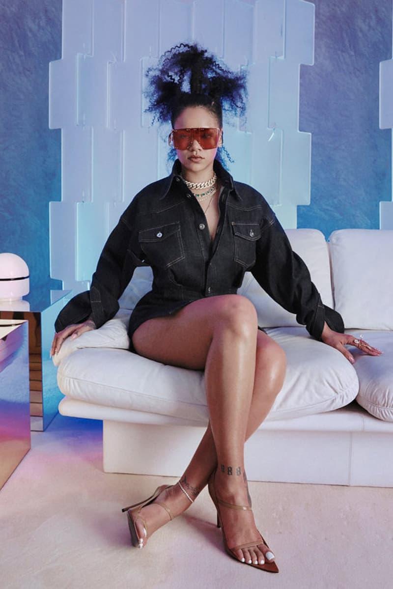 Rihanna FENTY Sunglasses Denim Dress Editorial New York Times T Magazine 2019