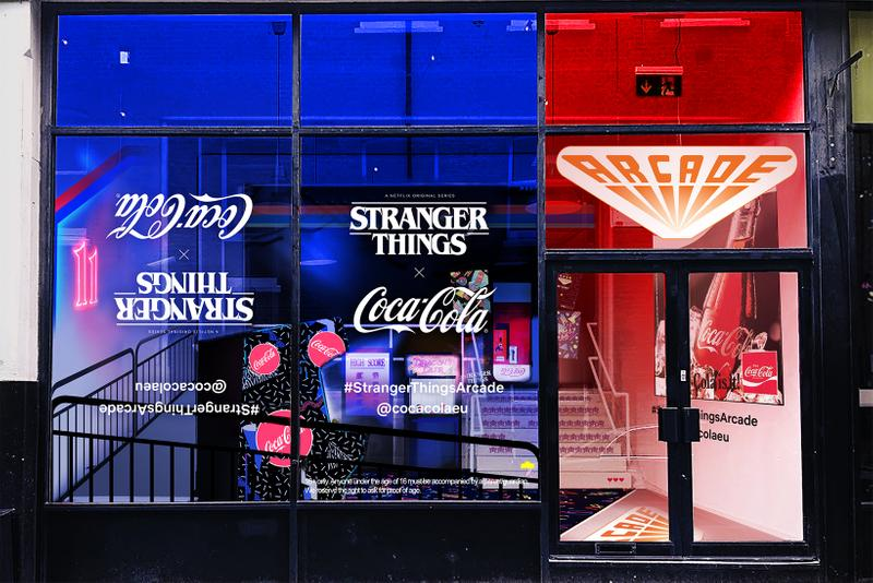 Stranger Things 3 Coca-Cola London Shoreditch 80s Arcade Pop-Up New Coke Cans Upside Down