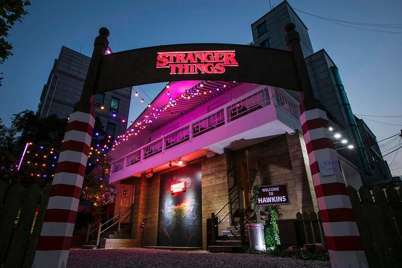 Stranger Things Seoul Pop Up Sign Red