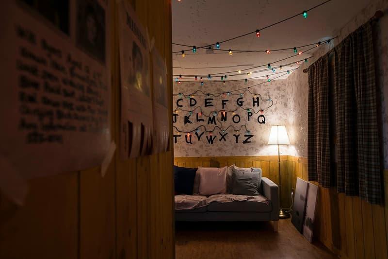 Stranger Things Seoul Pop Up Bedroom White Yellow Blue