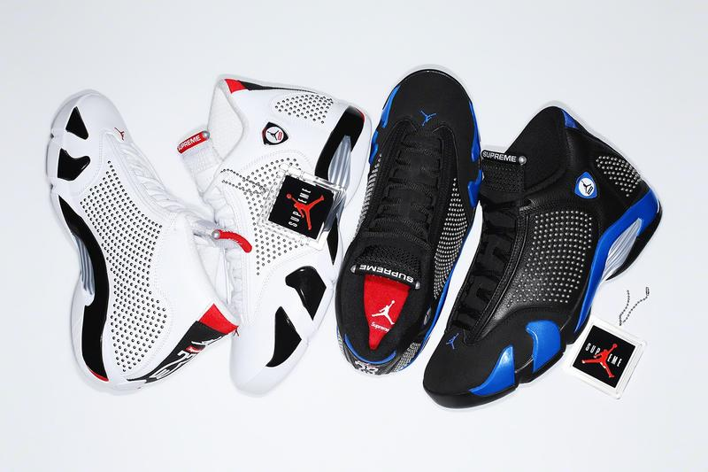 Supreme x Air Jordan XIV White Red Black Blue