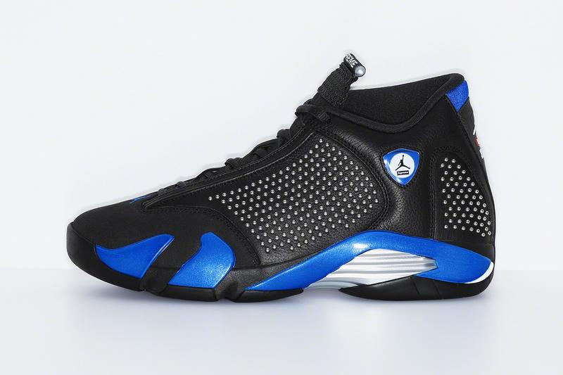 Supreme x Air Jordan XIV Black Blue
