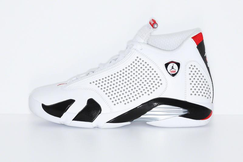 Supreme x Air Jordan XIV White Red Black