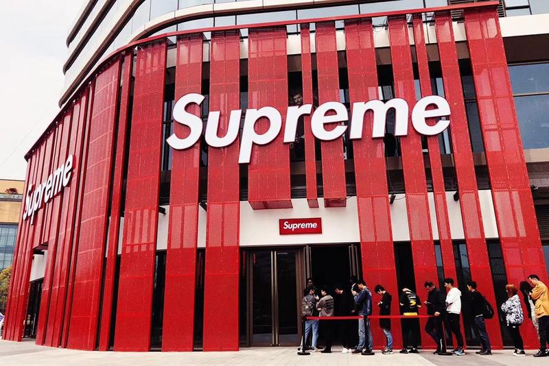 Supreme Logo White Red