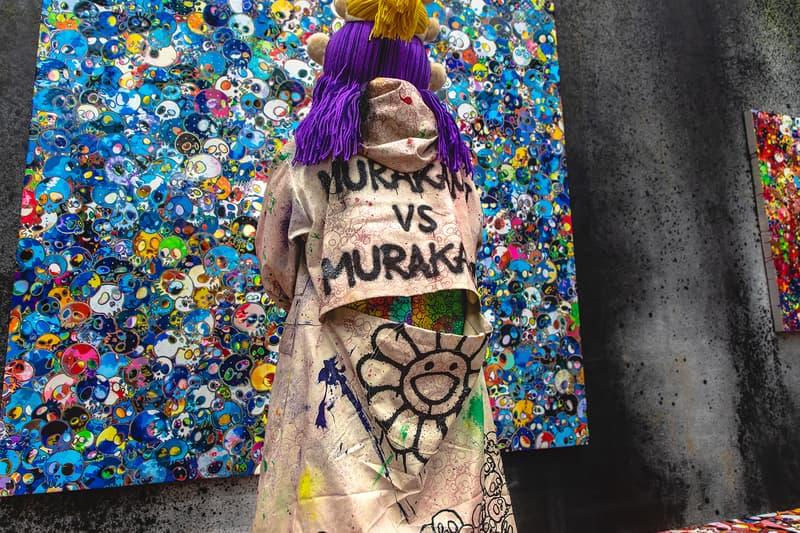 takashi murakami exhibit hong kong flower skull tai kwun gallery collection costume gold doramon asia pop-up shop plushie notebook sticker