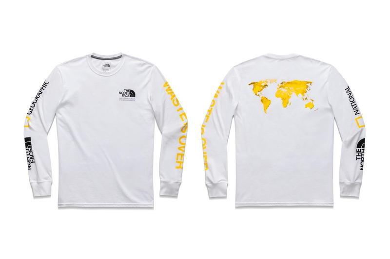 The North Face x National Geographic Bottle Source Collection Long Sleeved Tee White