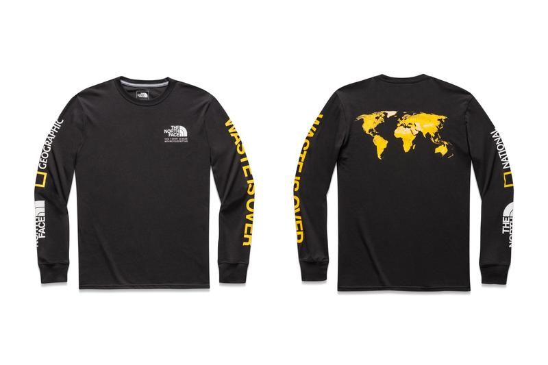 The North Face x National Geographic Bottle Source Collection Long Sleeved Tee Black
