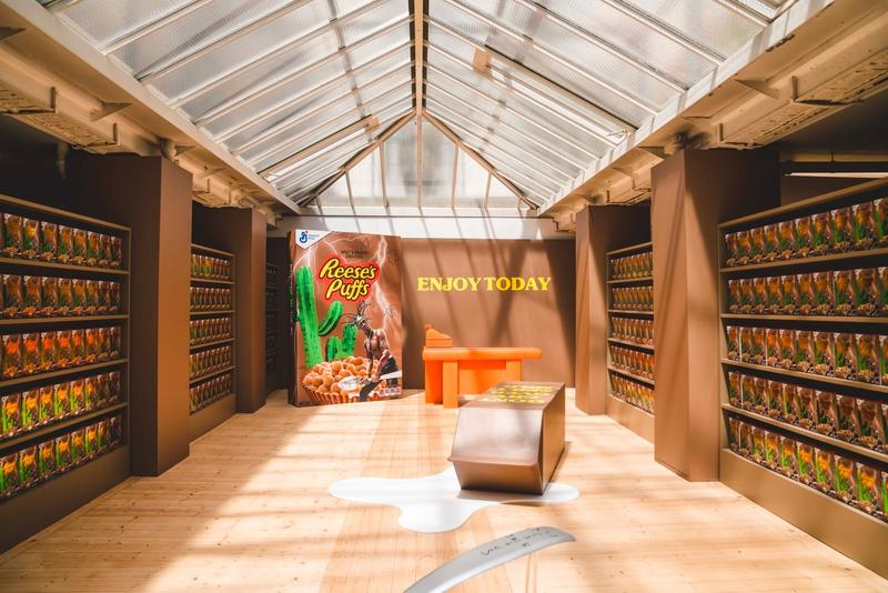 Travis Scott Reese's Puff Paris Pop Up Shop Cereal Boxes Brown