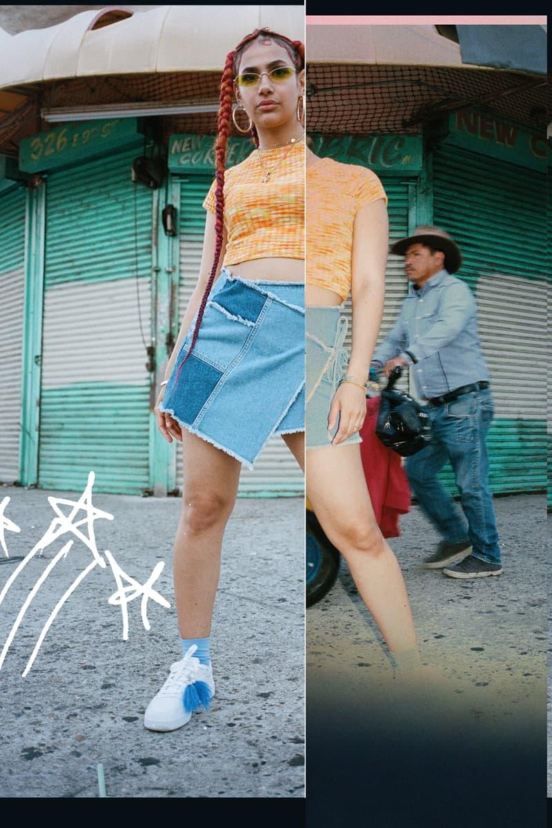 Reebok Sport The Unexpected Club C Campaign Uzumaki Cepeda Shirt Orange Skirt Blue Shoes White