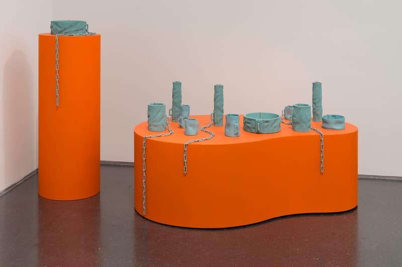 Virgil Abloh MCA Chicago Exhibit Furniture Designs Orange Blue