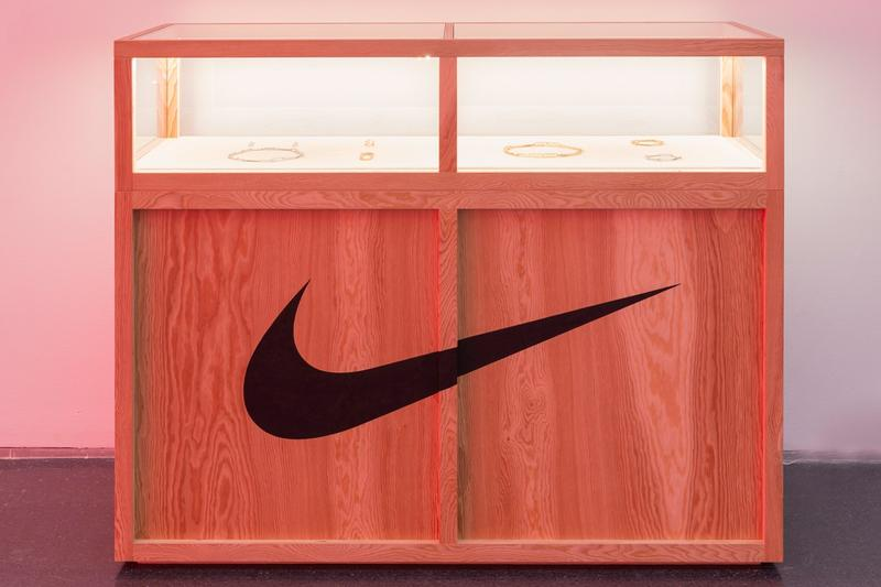 Virgil Abloh MCA Chicago Exhibit Nike Section Brown Black