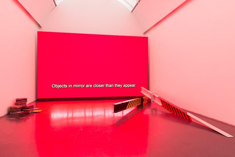 Virgil Abloh MCA Chicago Exhibit Graphic Design Red