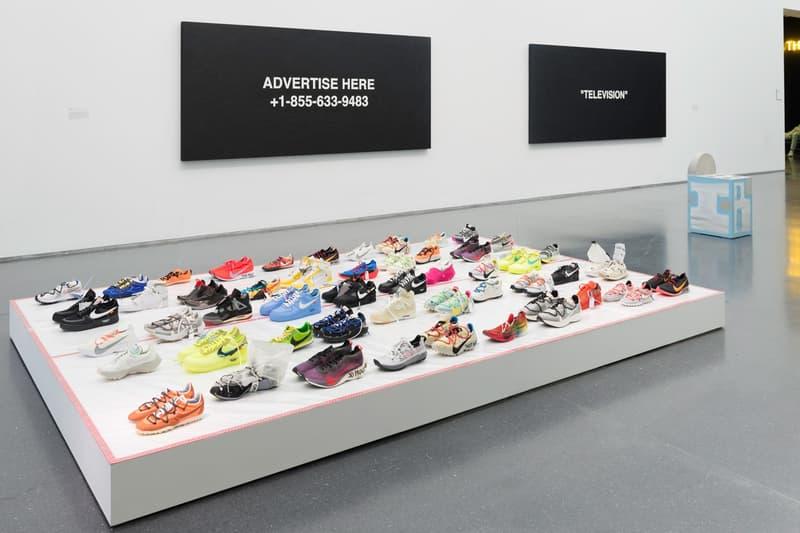 Virgil Abloh MCA Chicago Exhibit Entrance Off White Nike Jordan Brand Sneakers