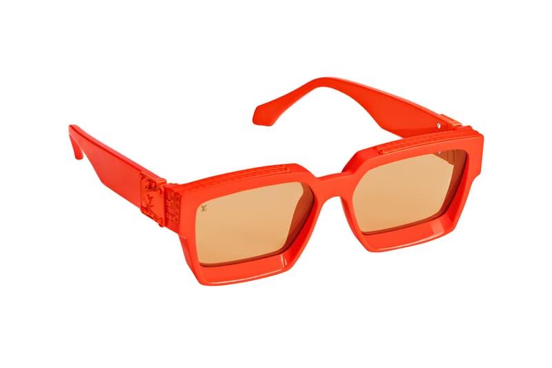 Virgil Abloh Louis Vuitton MCA Chicago Pop Up Collection Millionaires Sunglasses Orange