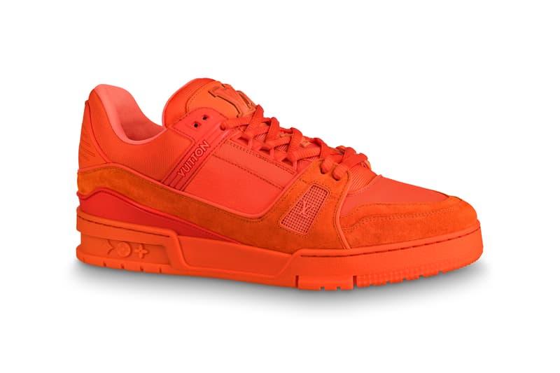 Virgil Abloh Louis Vuitton MCA Chicago Pop Up Collection Sneaker Orange