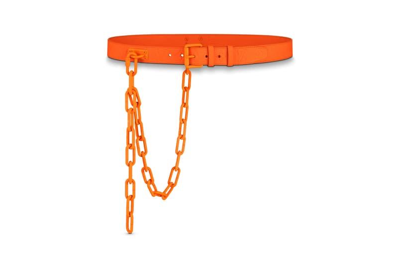 Virgil Abloh Louis Vuitton MCA Chicago Pop Up Collection Chain Belt Orange
