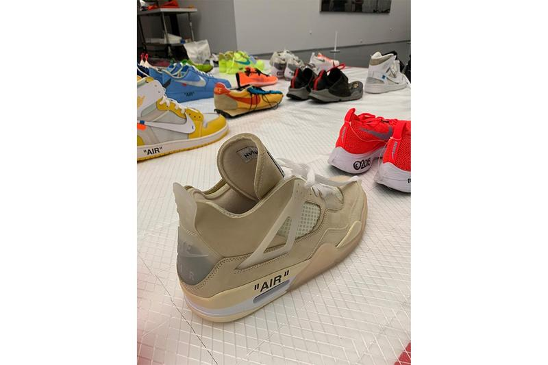 Virgil Abloh MCA Chicago Off White Nike Samples Air Jordan 4 Tan