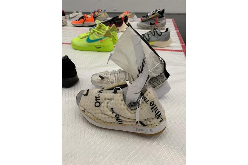 Virgil Abloh MCA Chicago Off White Nike Samples Cream White