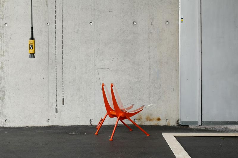 Virgil Abloh x Vitra Art Exhibition Chair Orange