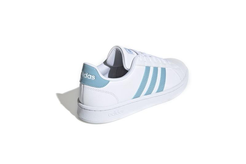 adidas grand court shoes blue sneakers three stripes footwear drop release new