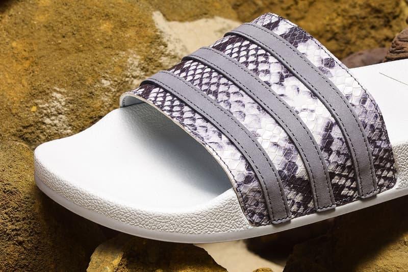 adidas Originals Snakeskin Pack Adilette Slides Cream Black