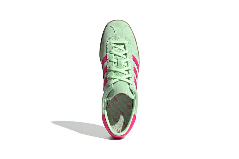 adidas terrace stadt trainers sneakers neon green hot pink shoes footwear sneakerhead