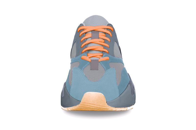 "adidas YEEZY BOOST 700 ""Teal Blue"" Release Date Kanye West adidas Originals Drop Grey Blue Orange Chunky Shoe"