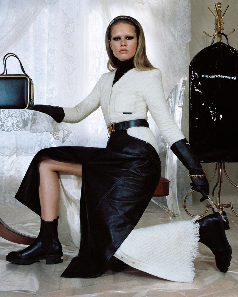 alexander wang collection 2 2019 anna ewers skirt jacket bag boots