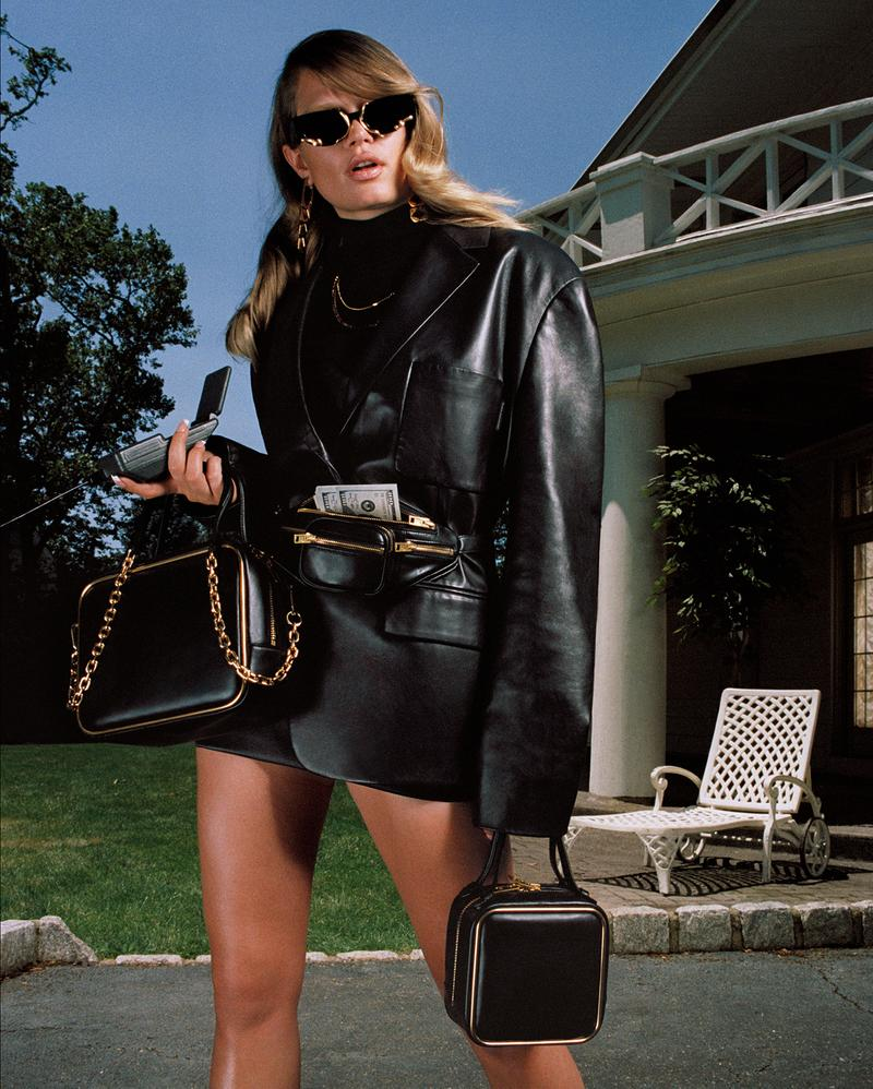 alexander wang collection 2 2019 anna ewers leather jacket black square bag