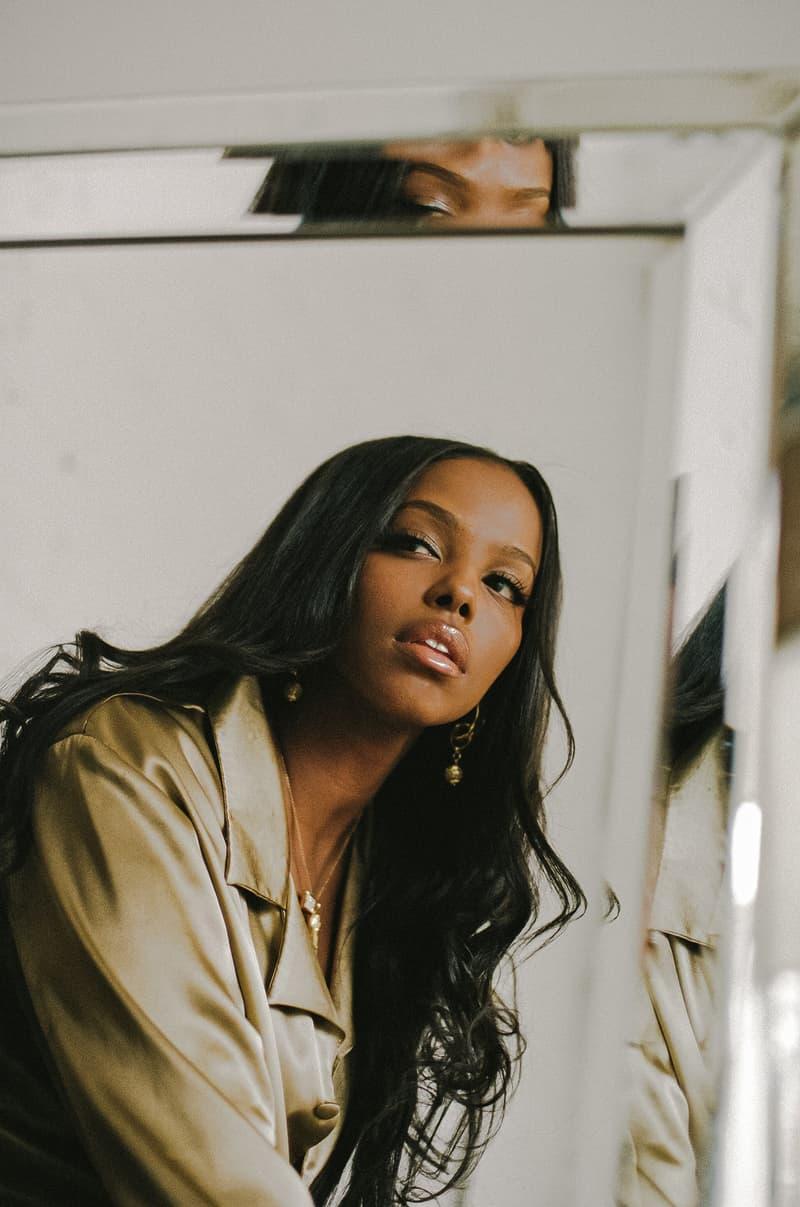 Amaal Black Dove Somali Canadian R&B Artist Music Singer Shirt Mirror Toronto Canada
