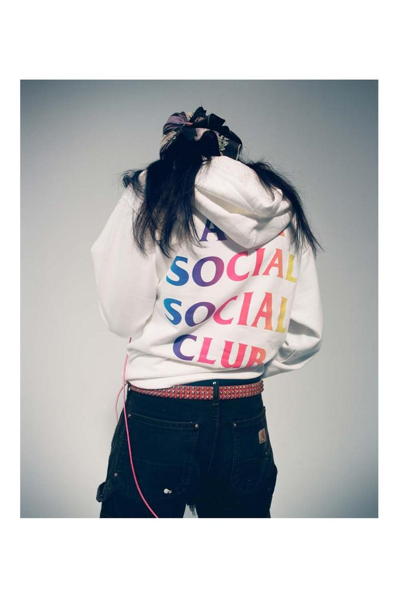 Anti Social Social Club Fall Winter 2019 Still Stressed Lookbook Logo Hoodie White